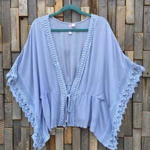 Woman's top shirt blouse kimono Alta Large Lace